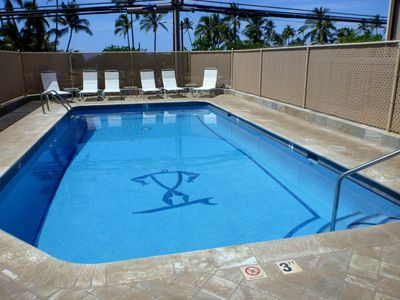 Pool with seating area
