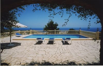 Beautiful villa with private pool and panoramic sea