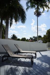 South Miami house rental - Upstairs Sun Deck