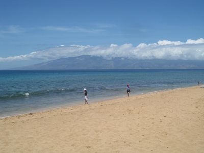 Kaanapali condo rental - View of Beach towards Molokai
