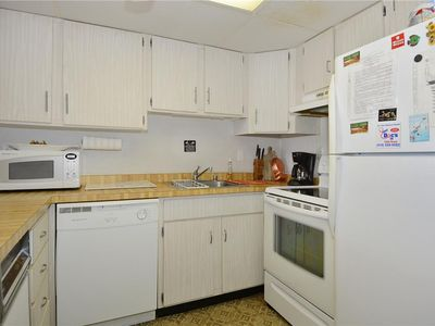 Quaint, well-equipped, 2-bedroom/2-bath condo located in an elevator building on the oceanfront at 126th St.