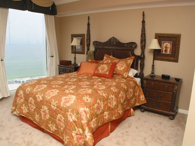 Large Master Bedroom with Beach Front View