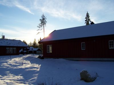Large house with Wi-Fi, ski center and beach nearby, private sauna