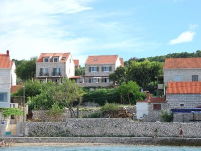 MODERN STONE VILLA with amazing sea views. 80 metres from beach.