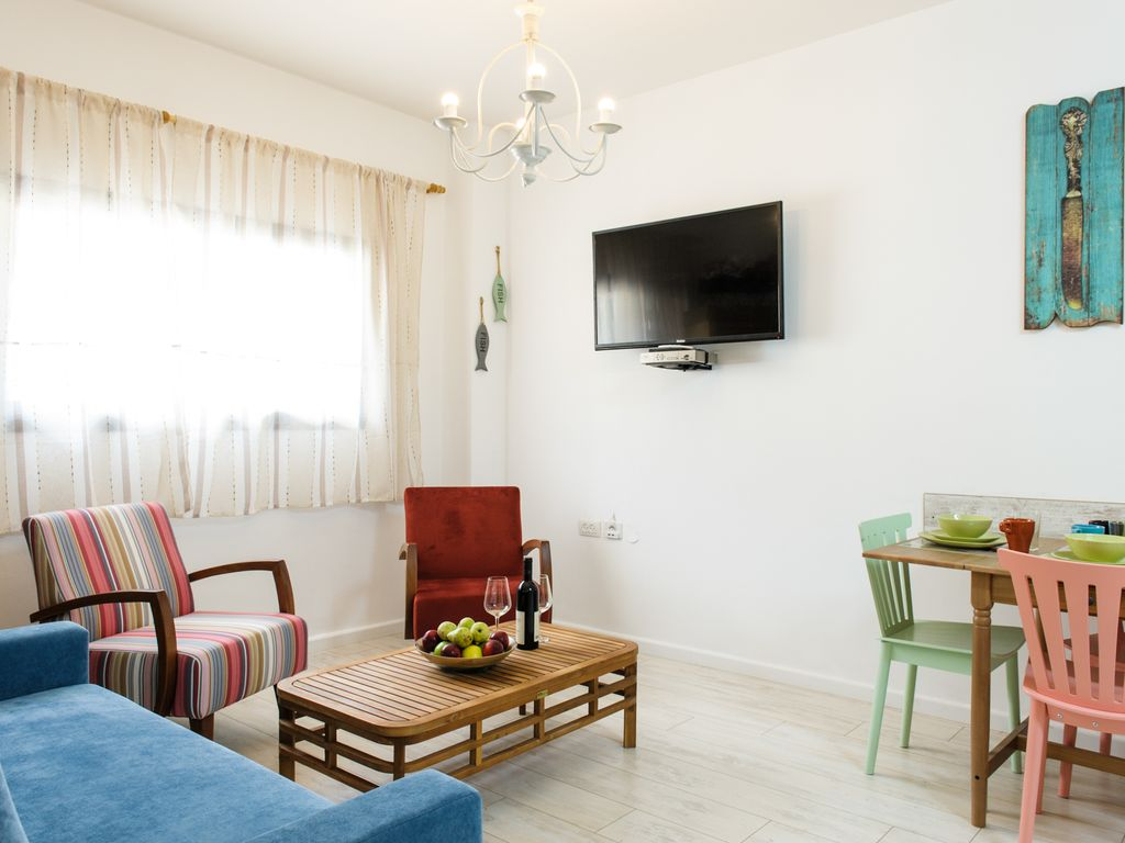 he apartment is located in one of the most beautiful  areas of Tel Avi