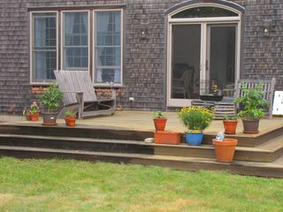 West Tisbury house photo - Enjoy the back deck