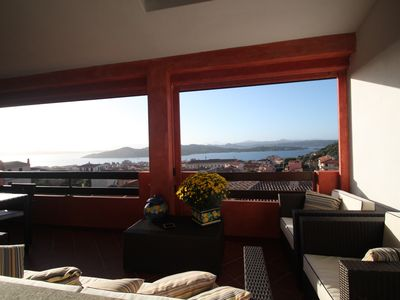 Apartment-Penthouse in La Maddalena with stunning large covered terrace