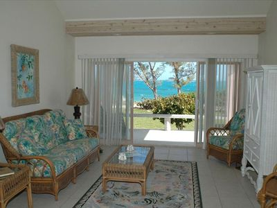 Living-room of Conch Pearl cottage