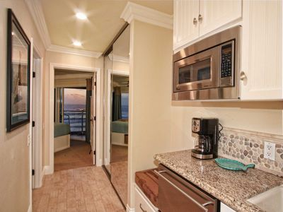 Upstairs Kitchenette serves all 3 bedrooms with micro, and refrigerator drawers