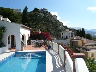 Lovely villa with private, heated pool,  lush gardens, and  breathtaking views.