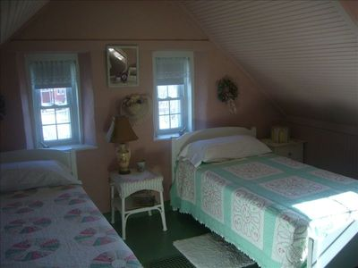 Upstairs Eberhardt Bedroom.  Push the Beds Together If You Like.
