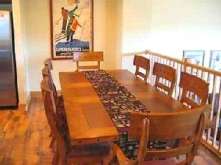 Bear Hollow Village townhome photo - Seating for 8+ in Dining Room plus 2 more at the breakfast bar