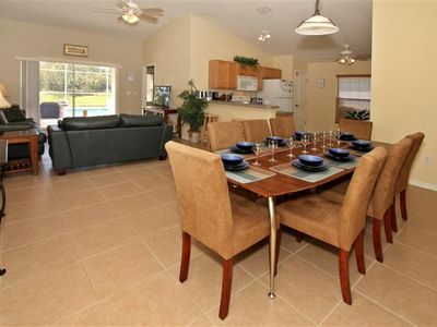 Town Centre Reserve villa rental - Main living area is tiled throughout to be cool and comfortable.