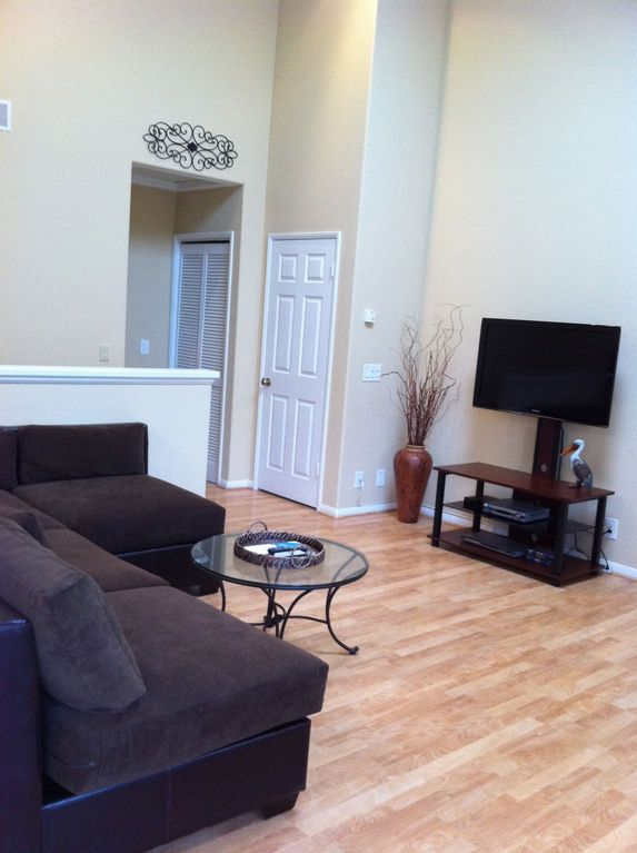 "Living Room area with 40"" flatscreen & dvd player Feel free to ..."