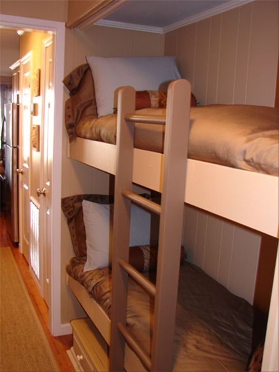 Built in bunk beds for the children.