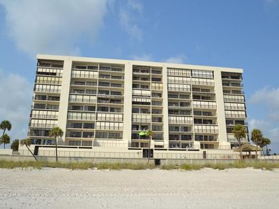 Seaside balconies of the Ocean Sands vacation rental