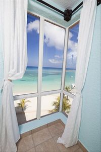 View onto beach from 3rd Bedroom
