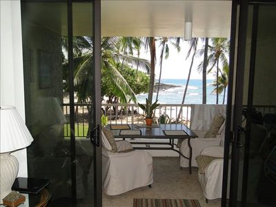 Lanai through the double sliding doors for that open air feeling