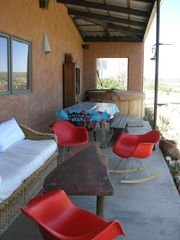 Taos house photo - Back Viewing Deck, Dining Table and Hot Tub