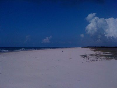 Galveston house rental - Great big beach over one sand dune