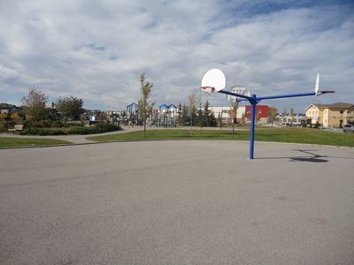 Basketball courts nearby