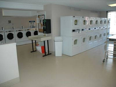 Laundry room- across the hall from the gym so you can get it all done quick!