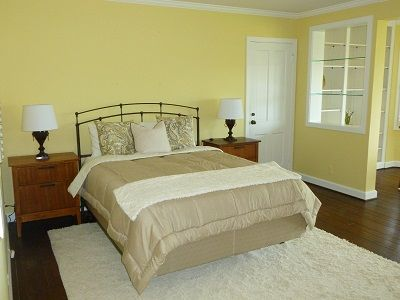 Very large master bedroom with walk-in closet and safe.