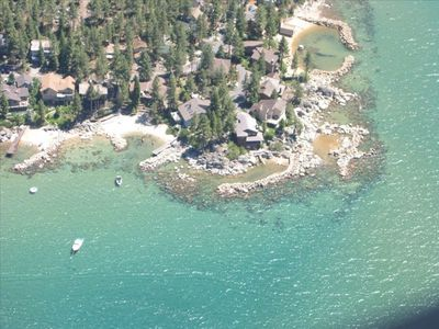 Zephyr Cove house rental - Aerial view (4th house from the left)