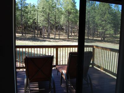 Flagstaff cabin rental - View from the Master Bedroom Deck