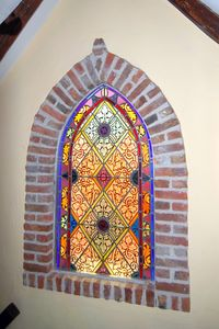 Some stained glass windows at the Apartment
