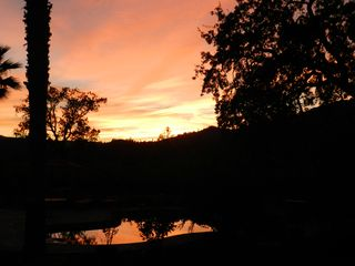 Calistoga house photo - September sunset from dining room deck