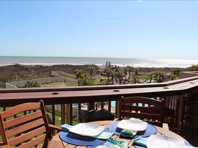 Port Aransas condo rental - Enjoy the breathtaking views from the main deck