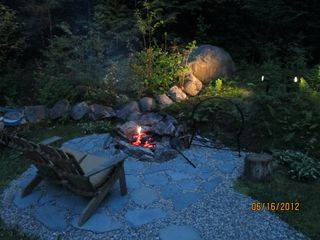Thornton house photo - fire pit area; part of landscape design