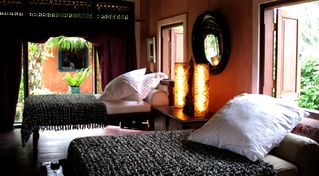 Ubud villa photo - 3rd bedroom with two twin beds