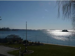 Branford house photo - Breathtaking view of the Long Island Sound from the bedroom windows.