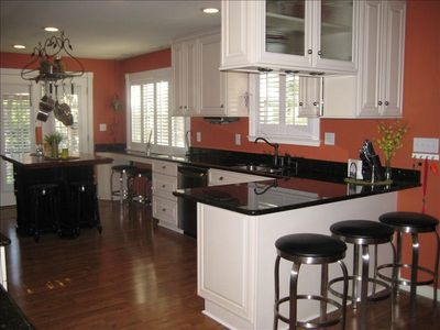 Fully-equipped kitchen in the larger Cabin. Top quality appliances and cabinetry