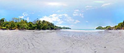 Panoramic view of Exclusive Beach at low tide