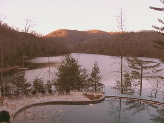 Cashiers condo photo - Sun setting from tthe Lake Club Dining Room