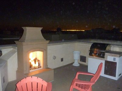 Outdoor Fireplace and Bar-B Que 4th Floor Deck