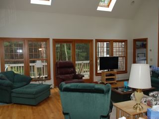 Dennis Village house photo - Great room with sliders to deck