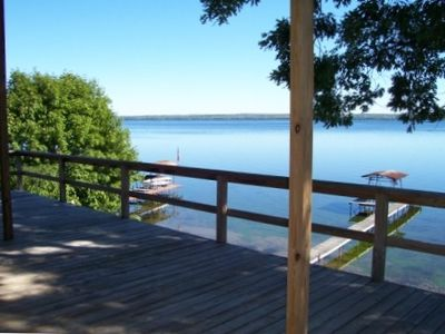 View of Deck & Lake.