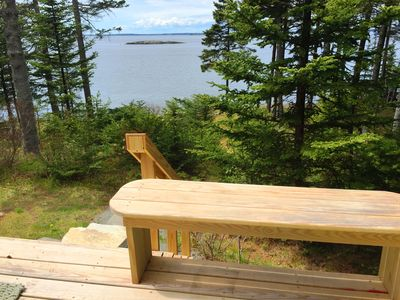The ocean view from Dix Point deck