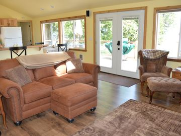 Open living room and kitchen make for easy conversation!