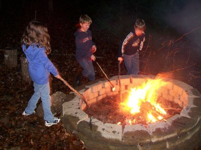 Dillard cabin rental - The Fire Pit Always Stands Ready To Roast Your Hot Dogs and Toast Marshmallows.