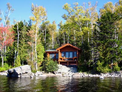 Greenville lodge rental - View Of The Cabin From The Water