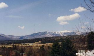 View of MT Mansfield - the ski area 7 miles away. - Stowe house vacation rental photo