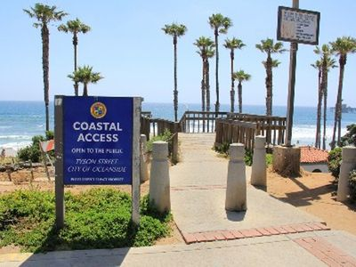 Convenient beach access across the street w/ showers & restrooms. Best surf spot
