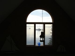 Isle Au Haut cottage photo - peak window