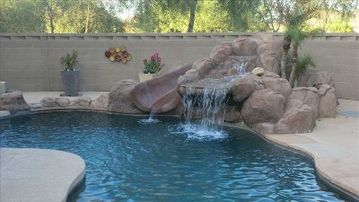 Peoria house rental - Heated Pool, waterfall, slide