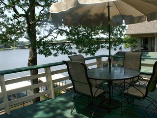 Hot Springs house photo - Upper deck for relaxing and dining with BBQ grill on both levels.